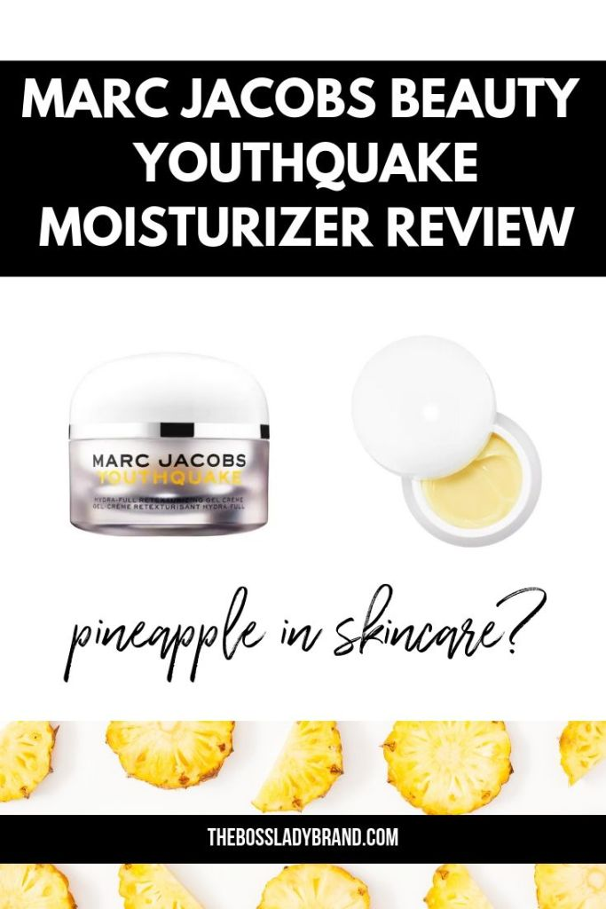 Marc Jacobs Beauty Youthquake Moisturizer is a new product that has pineapple enzymes and promises to retexturize and hydrate your skin! #beautyproducts #beautyreviews #skincare