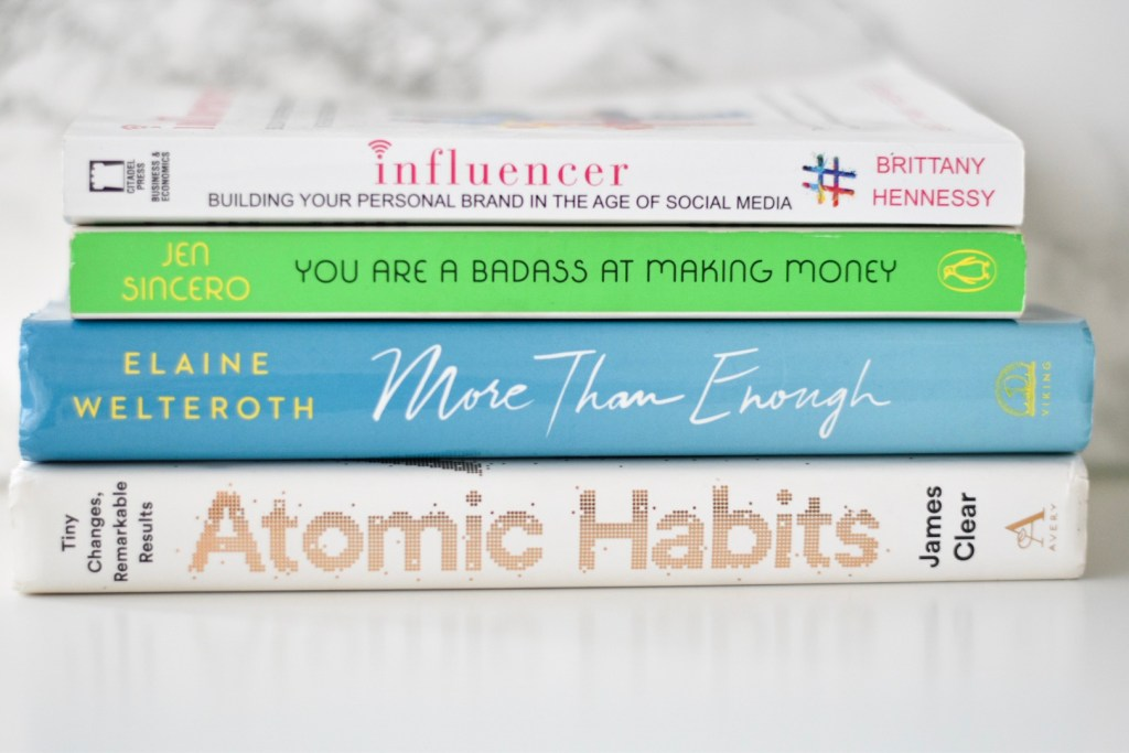Influencer, You are a badass, more than enough and Atomic Habits