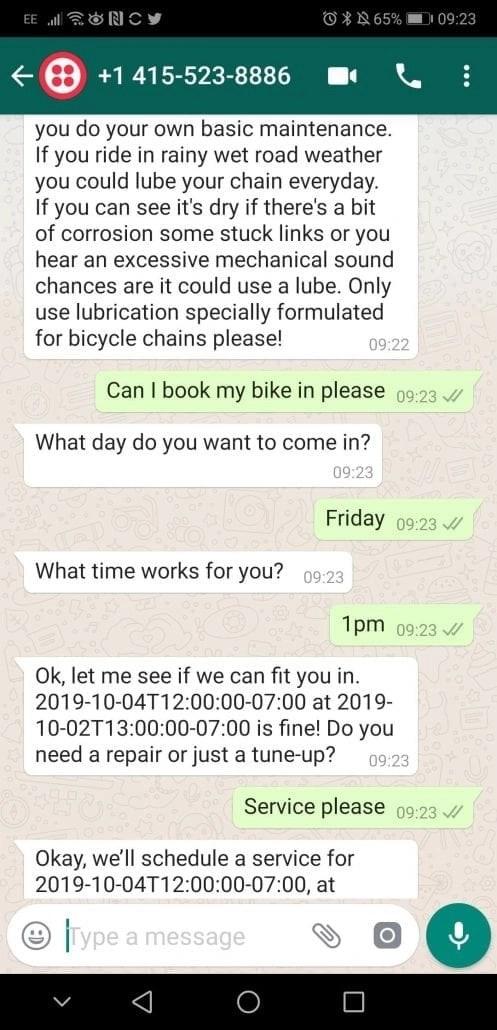 WhatsApp Chat Conversation