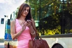 Girl using WhatsApp chatbot