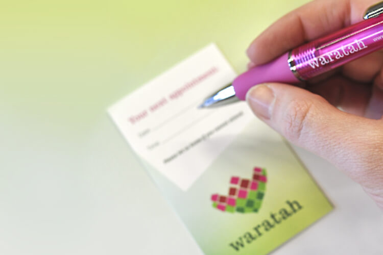Waratah Appointment Card