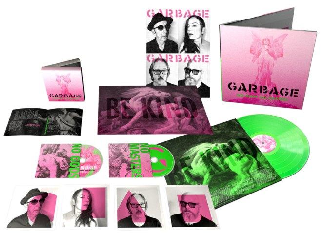 Garbage No Gods No Masters Neon Green Vinyl Bundle