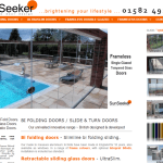 a previous version of the SunSeeker Doors website