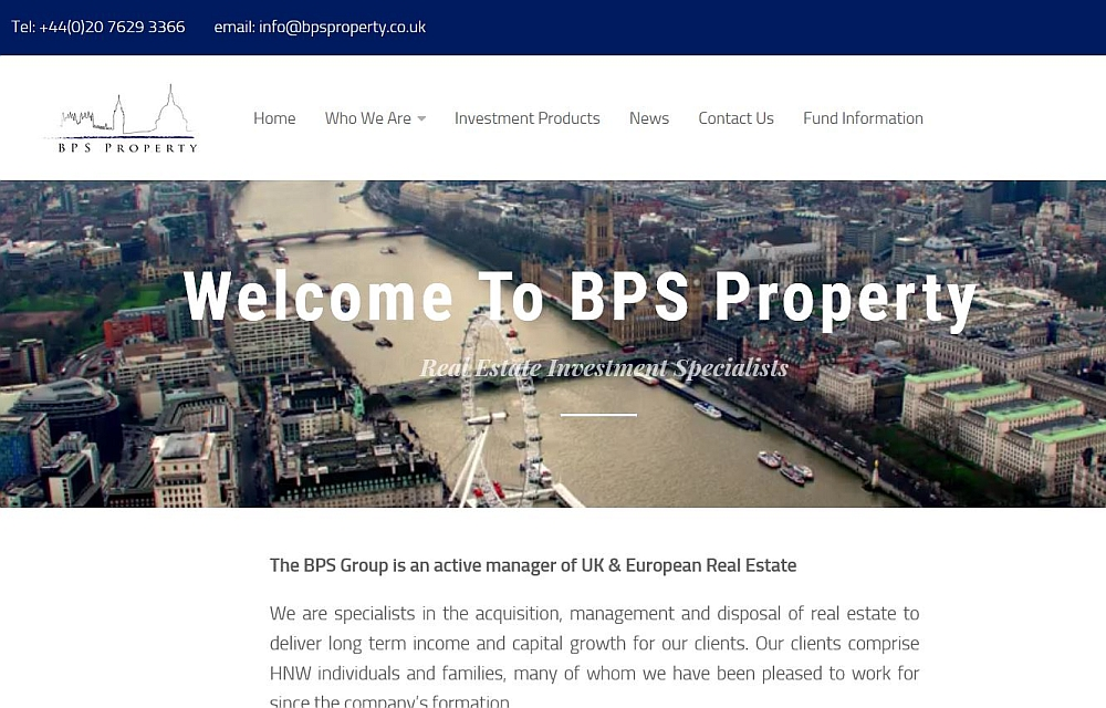 London property investment fund