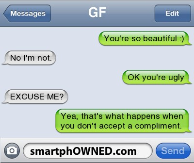 How NOT to Accept Compliment