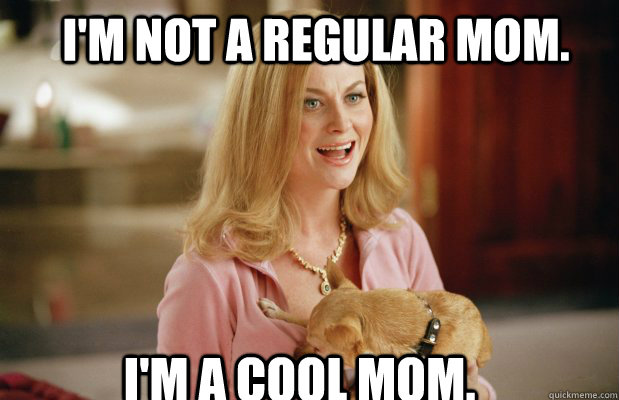 "Amy Poehler's character in ""Mean Girls"" tries so hard to be a ""cool"" mom."