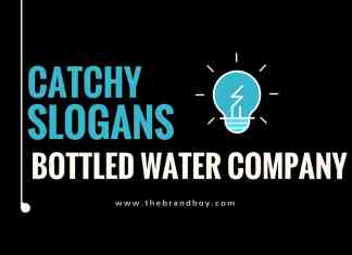 bottled water company slogans