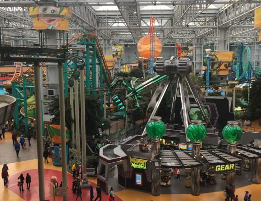 indoor theme park, theme park, mall of america, america, mall, rides in a mall,