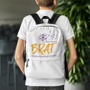 BRAT White Backpack