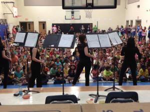 Education program with the Breaking Winds Bassoon Quartet
