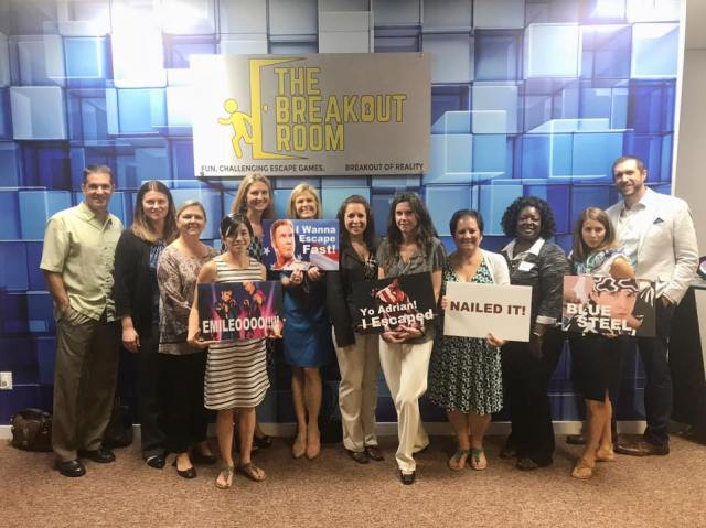 Fun team building event at the breakout room in wilmington nc