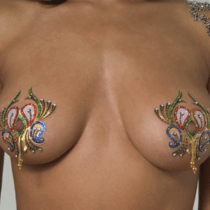Crystal Body Art Mardi Gras Pasties