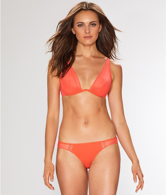 orange bra sets