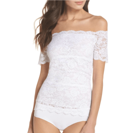 Hanky Panky Evelyn Off the Shoulder Lace Top