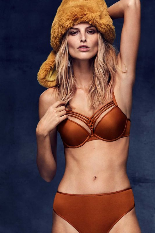 be5c8f2174f Dame de Paris Push-Up Bra   Brazilian Shorts in Cinnamon. Available in  sizes 32A-38C and S-2XL. via Marlies Dekkers