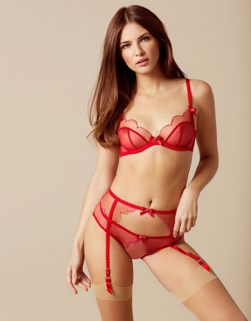 red garter belt sets