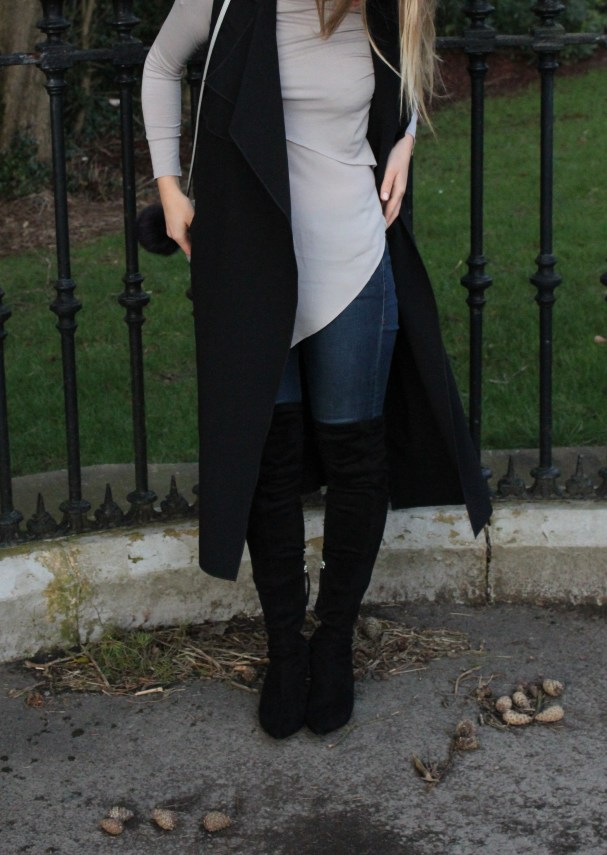 how to style over knee boots zara fashion blog