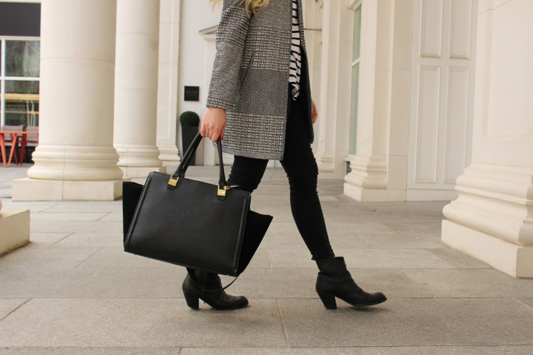 Monochrome clash print trend coat 3 blog