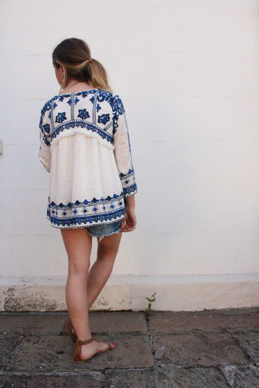 Zara-ecru-summer-blouse-jacket-blue-and-white-lendra-1-e1470839948314