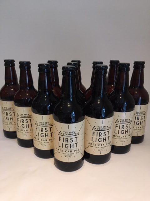 The Brew Foundation First Light bottles