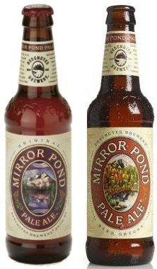 Mirror Pond Pale Ale, old and new label