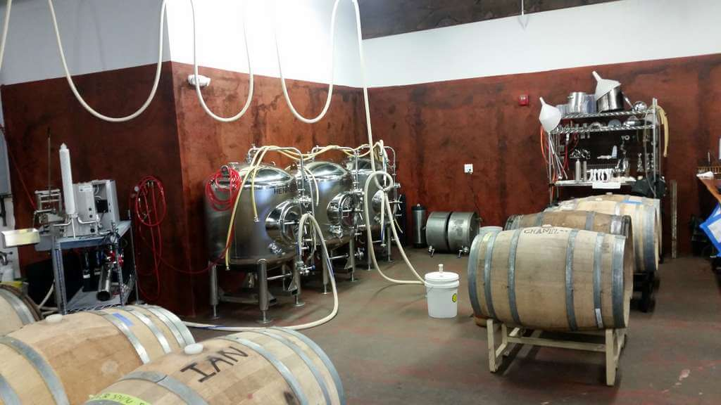 The Ale Apothecary tasting room - barrel room