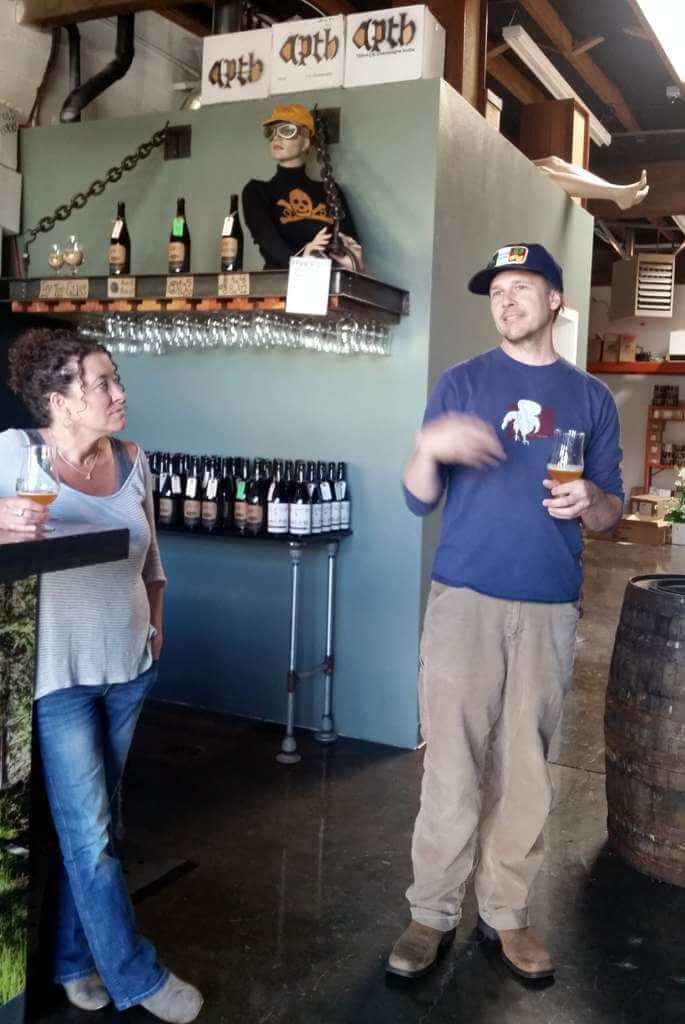 The Ale Apothecary tasting room - Staci and Paul Arney