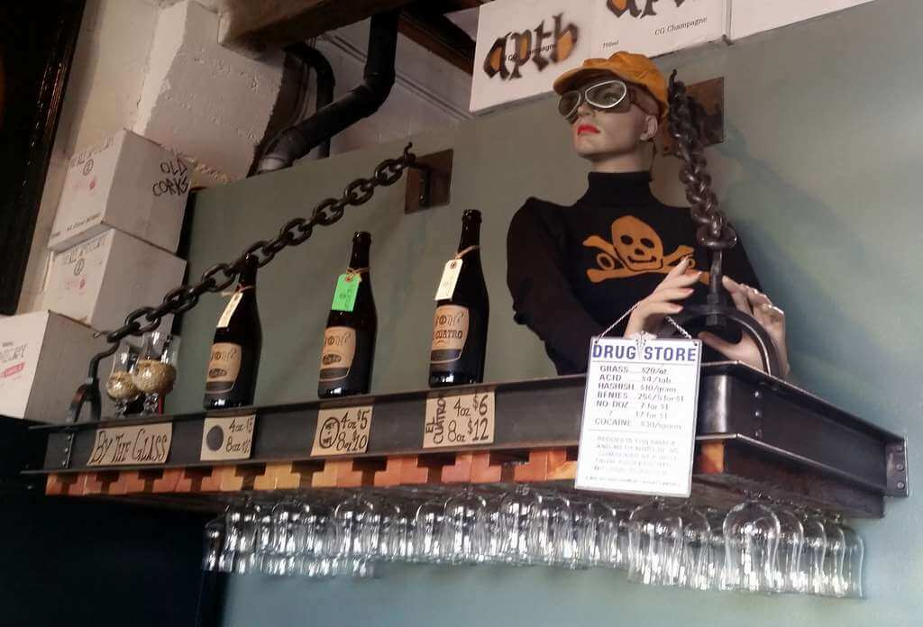 The Ale Apothecary tasting room - bottles and pricing