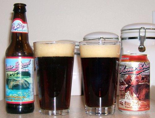 Moose Drool, bottle vs. can