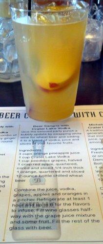 Beer cocktail: Sangria