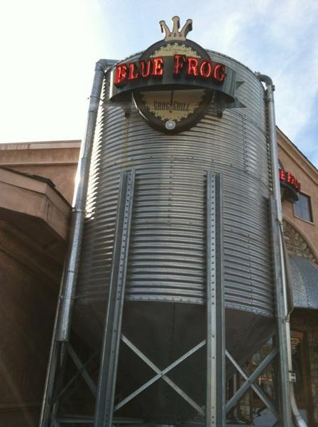Blue Frog grain silo