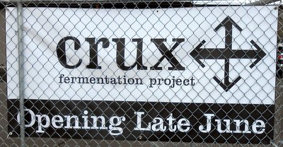 Crux Fermentation Project sign