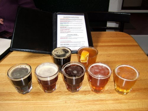 The Brewery at Lake Tahoe beer sampler