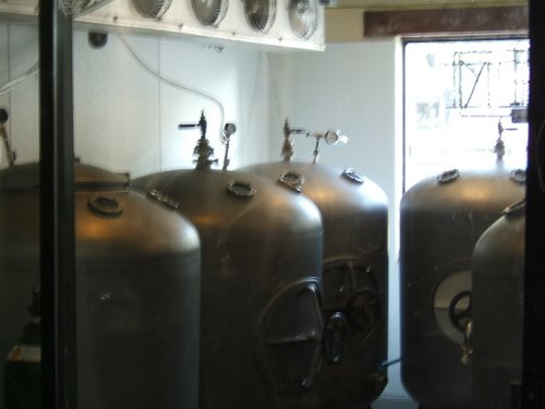 The Brewery at Lake Tahoe serving and conditioning tanks