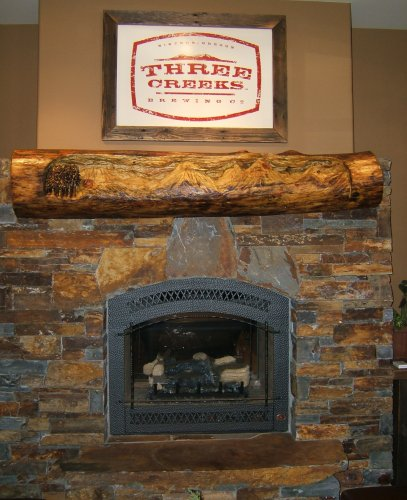 Three Creeks Brewing fireplace
