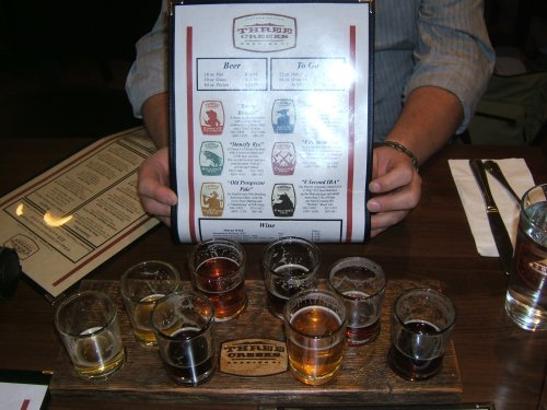 Three Creeks Brewing sampler tray
