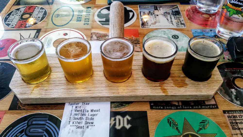 Caldera Brewing beer samples