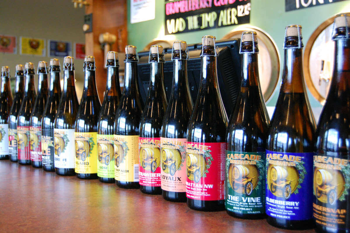 Cascade Brewing bottle lineup
