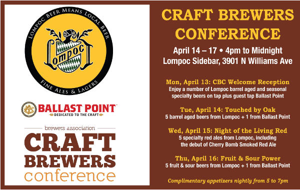 Lompoc Brewing CBC events