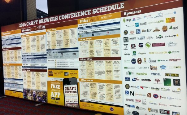 Craft Brewers Conference schedule