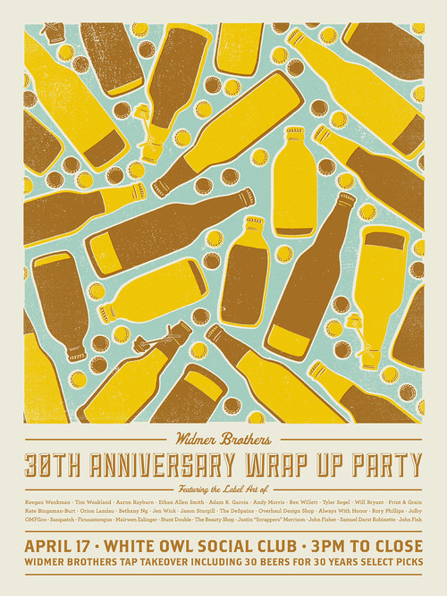 Widmer's 30th anniversary wrap-up party