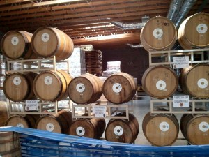 Deschutes Brewery barrels for Conflux #1