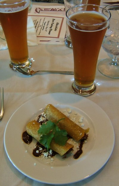 Deschutes Chocolate Beer Pairing Dinner: plated appetizer