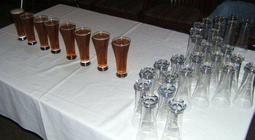 Lineup of fresh hop beers