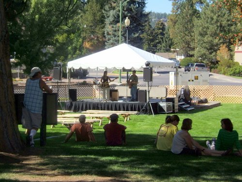 Music stage on the lawn