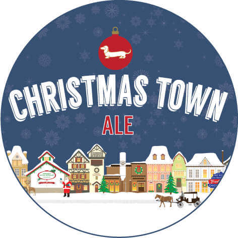 Frankenmuth Christmas Town Ale label