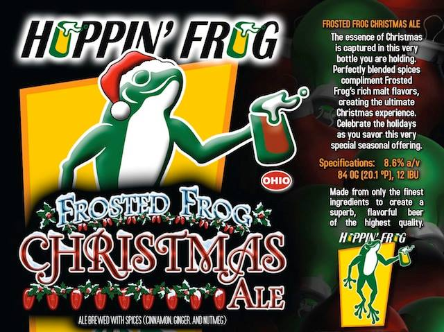 Hoppin' Frog Frosted Frog Christmas Ale