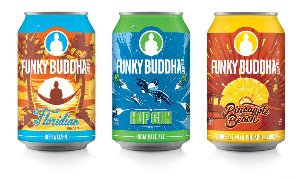 Funky Buddha Brewery new cans