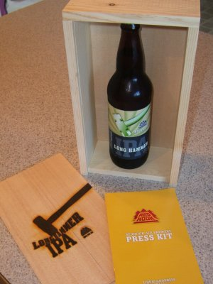 Long Hammer IPA PR package