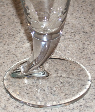 Michelob specialty glass close-up